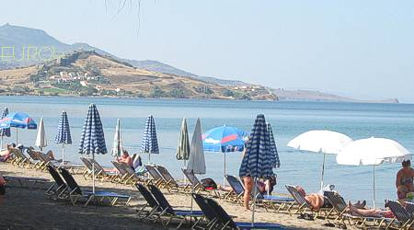 Petra Beach 5 km away from Molivos